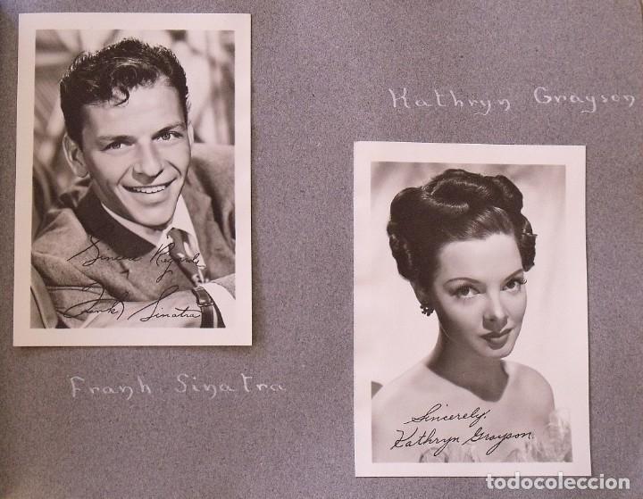 Cine: Álbum autógrafos estrellas Hollywood años 40. Johnny Weissmüller, Glen Ford, Bing Crosby, etc. - Foto 15 - 189938211