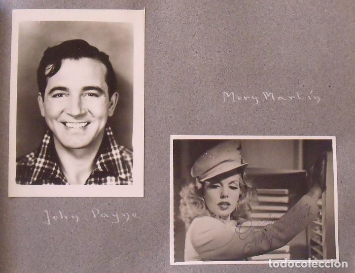 Cine: Álbum autógrafos estrellas Hollywood años 40. Johnny Weissmüller, Glen Ford, Bing Crosby, etc. - Foto 16 - 189938211