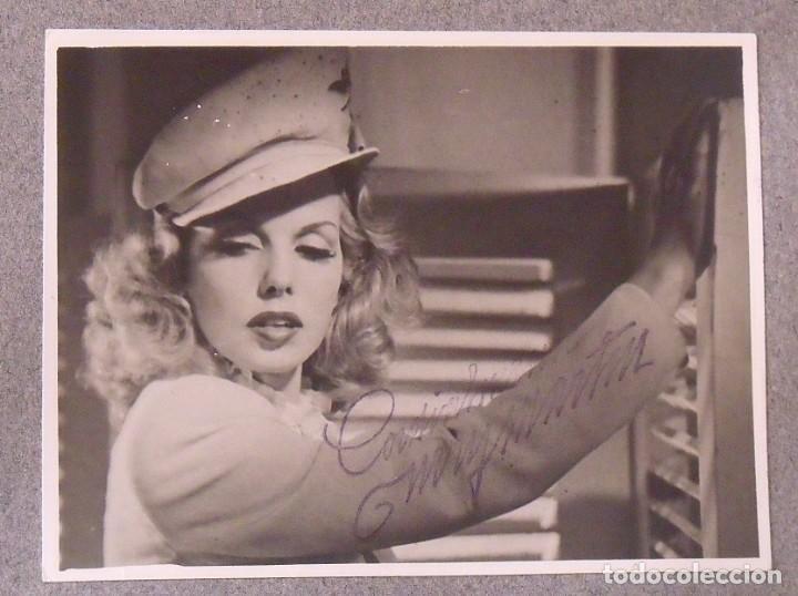 Cine: Álbum autógrafos estrellas Hollywood años 40. Johnny Weissmüller, Glen Ford, Bing Crosby, etc. - Foto 17 - 189938211