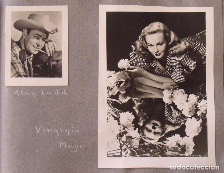 Cine: Álbum autógrafos estrellas Hollywood años 40. Johnny Weissmüller, Glen Ford, Bing Crosby, etc. - Foto 19 - 189938211