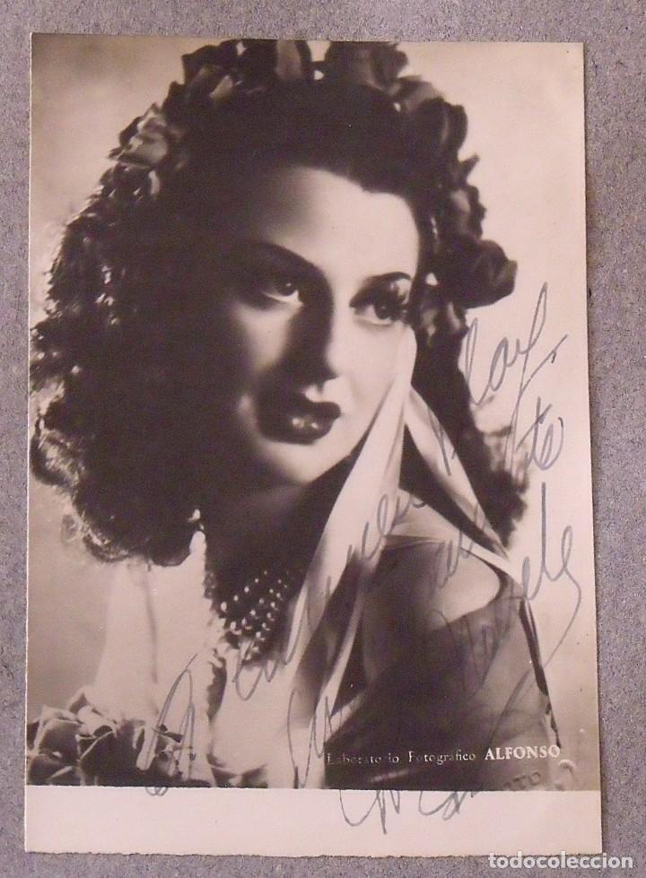Cine: Álbum autógrafos estrellas Hollywood años 40. Johnny Weissmüller, Glen Ford, Bing Crosby, etc. - Foto 21 - 189938211
