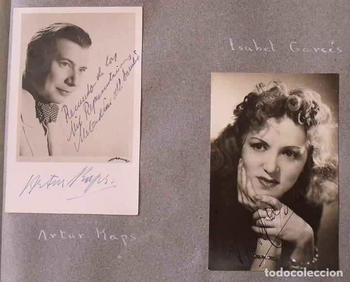 Cine: Álbum autógrafos estrellas Hollywood años 40. Johnny Weissmüller, Glen Ford, Bing Crosby, etc. - Foto 22 - 189938211
