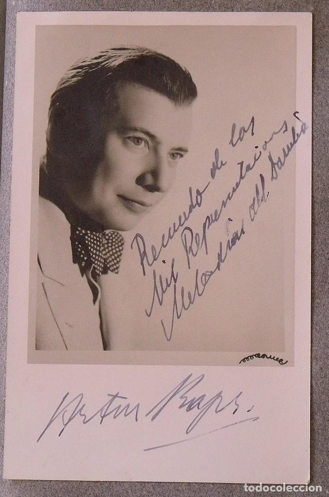 Cine: Álbum autógrafos estrellas Hollywood años 40. Johnny Weissmüller, Glen Ford, Bing Crosby, etc. - Foto 23 - 189938211
