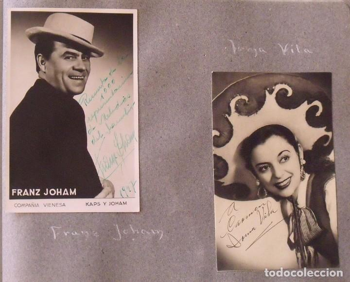 Cine: Álbum autógrafos estrellas Hollywood años 40. Johnny Weissmüller, Glen Ford, Bing Crosby, etc. - Foto 25 - 189938211