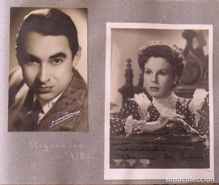 Cine: Álbum autógrafos estrellas Hollywood años 40. Johnny Weissmüller, Glen Ford, Bing Crosby, etc. - Foto 28 - 189938211