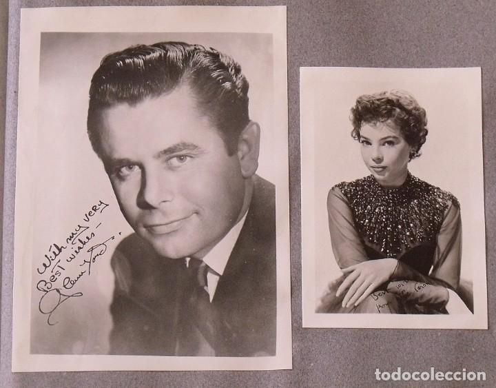Cine: Álbum autógrafos estrellas Hollywood años 40. Johnny Weissmüller, Glen Ford, Bing Crosby, etc. - Foto 31 - 189938211