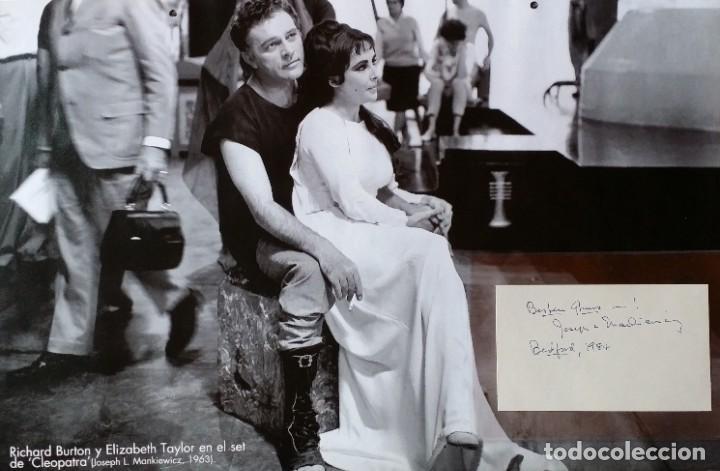 Cine: Joseph L. Mankiewicz, AUTOGRAFO enmarcado con lámina / 36 laminas Historia del Cine, 1984 - Foto 2 - 190339346