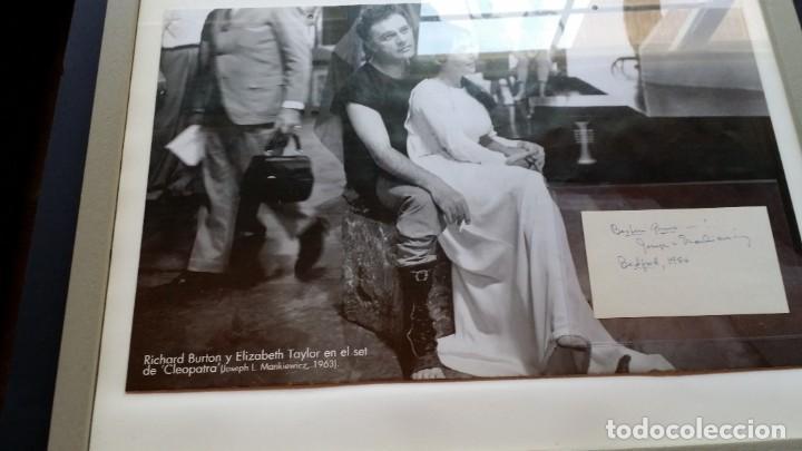 Cine: Joseph L. Mankiewicz, AUTOGRAFO enmarcado con lámina / 36 laminas Historia del Cine, 1984 - Foto 3 - 190339346