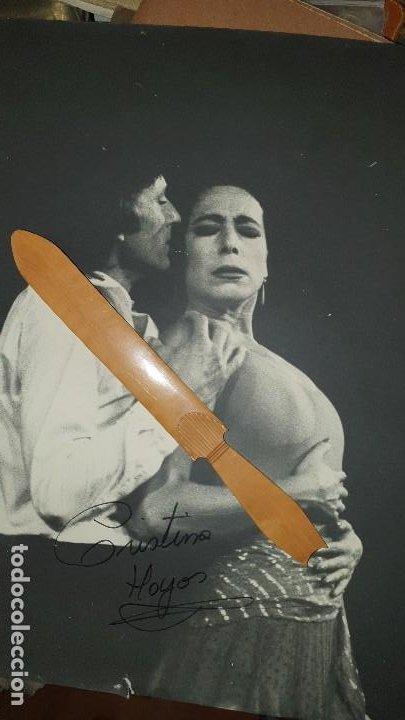GRAN FOTOGRAFIA DE ANTONIO GADES Y CRISTINA HOYOS, FIRMA AUTOGRAFA DE CRISTINA, 40 X 30 CM (Cine - Autógrafos)