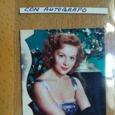 Cine: RHONDA FLEMING, CROMO FIRMADO.. Lote 194521277