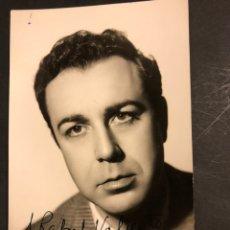 Cine: FOTO CON AUTÓGRAFO DE FERNANDO REY.FOTO IBAÑEZ MADRID 13,5 X 8,5 CM. Lote 194742922