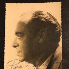 Cine: FOTO CON AUTÓGRAFO DE MANUEL LUNA.FOTO GYENES MADRID 14 X 9 CM. Lote 194742930