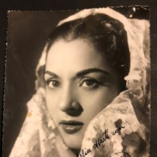Cine: FOTO CON AUTÓGRAFO DE LOLA FLORES.ROMAN BARCELONA 18 X 13 CM. Lote 194743792