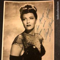 Cine: FOTO CON AUTÓGRAFO DE GLORIA MARIN 17 X 11 CM. Lote 194906616