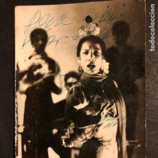 Cine: FOTO CON AUTÓGRAFO DE CARMEN AMAYA 14 X 9 CM. Lote 194906663