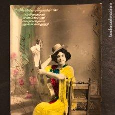 Cine: FOTO CON PUBLICIDAD PASTORA IMPERIO 14 X 8,5 CM. Lote 194906743