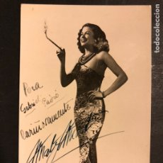 Cine: FOTO CON PUBLICIDAD LA VEDETTE MATY MONT 14 X 8,5 CM. Lote 194962151
