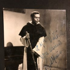 Cine: FOTO CON AUTÓGRAFO DE RENE MUÑOZ.FRAY ESCOBA 12 X 9 CM. Lote 194962505