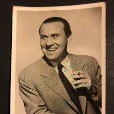 Cine: FOTO CON AUTÓGRAFO DE DE FRANZ JOHAM.KAP Y JOHAM LOS VIENESES 14 X 9 CM. Lote 194977681