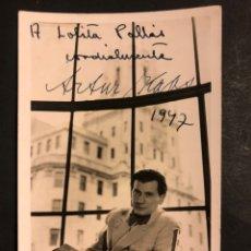 Cine: FOTO CON AUTÓGRAFO DE ARTHUR KAPS.JOHAM Y KAPS LOS VIENESES 14 X 9 CM. Lote 194977698