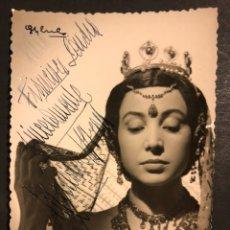 Cine: FOTO CON AUTÓGRAFO DE LA ACTRIZ Y BAILARINA MERCEDES MOZART.GYENES 12,5 X 8 CM. Lote 194977748