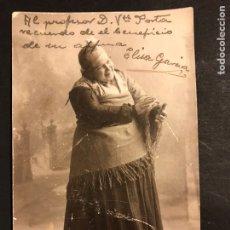 Cine: FOTO CON AUTÓGRAFO DE ELISA GARCÍA 13,5 X 8,5 CM. Lote 195439007
