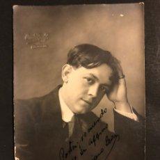 Cine: FOTO CON AUTÓGRAFO DEL ACTOR VALERIANO LEON.FOTO ORAW RAFF VALENCIA 1917. Lote 195439436