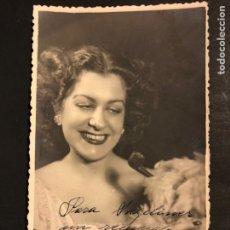 Cine: FOTO CON AUTÓGRAFO DE ANGELITA NAVALON.FOTO MENDOZA MADRID 14 X 8 CM. Lote 195439468