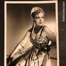 Cine: FOTO CIFESA CON AUTÓGRAFO DE MERCEDES VECINO 18 X 11,5 CM. Lote 195440363