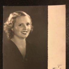 Cine: FOTO CON AUTÓGRAFO DE ENRIQUETA AVELLI.MISS BARCELONA 1934. Lote 195520756