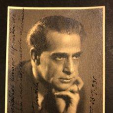 Cine: FOTO CON AUTÓGRAFO DEL ACTOR ALFONSO TUDELA 17 X 12 CM. Lote 195521815