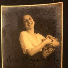 Cine: FOTO CON AUTÓGRAFO DE LA ACTRIZ VALENCIANA MARÍA ISABEL PALLARES 17 X 12 CM. Lote 195521965
