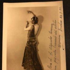 Cine: FOTO CON AUTÓGRAFO DEL ARTISTA Y TRANSFORMISTA DARWIN.GAY.FOTO CARRERA BARCELONA 1933. Lote 195522732