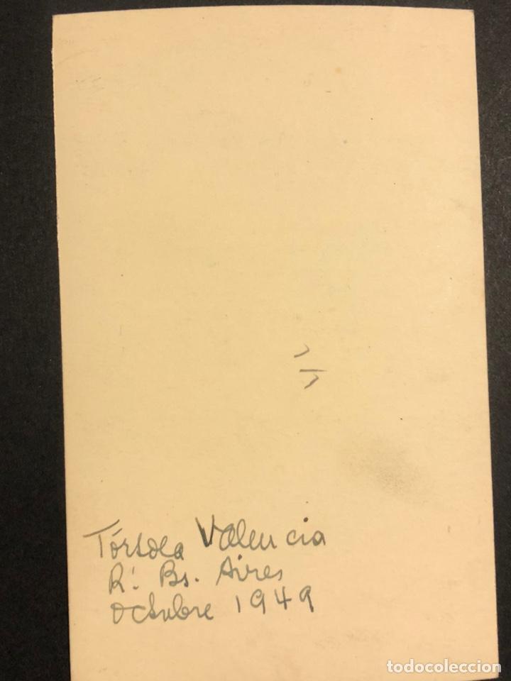 Cine: Foto con autógrafo de la bailarina Tórtola Valencia.Buenos Aires 1949 - Foto 2 - 198550473