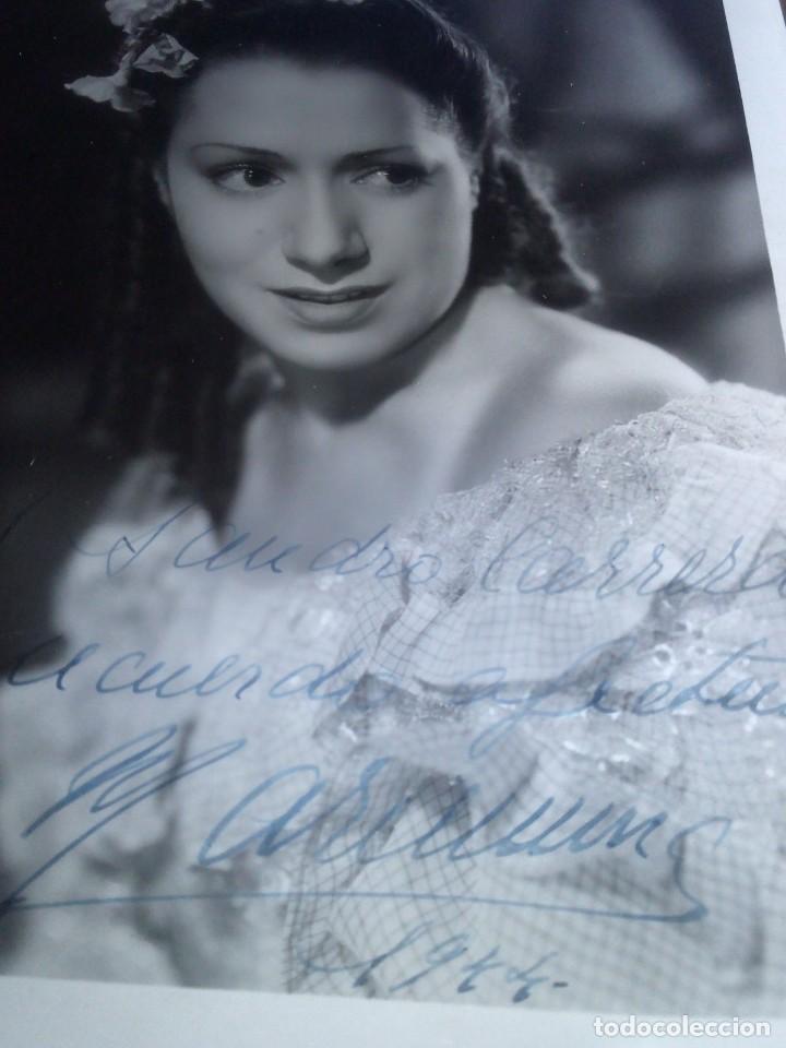 ~~~~ FOTOGRAFÍA ORIGINAL CIFESA 1944 AUTOGRAFIADA DE MARIEMMA, MIDE 24,5 X 18 CM. ~~~~ (Cine - Autógrafos)