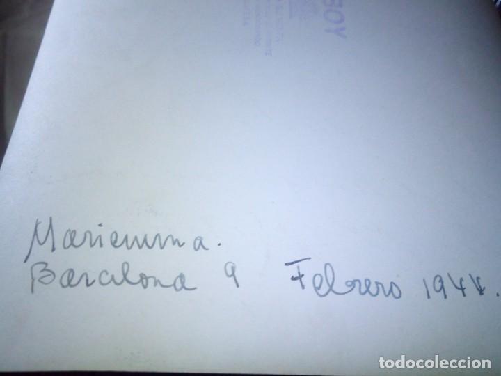 Cine: ~~~~ FOTOGRAFÍA ORIGINAL CIFESA 1944 AUTOGRAFIADA DE MARIEMMA, MIDE 24,5 X 18 CM. ~~~~ - Foto 2 - 203461068