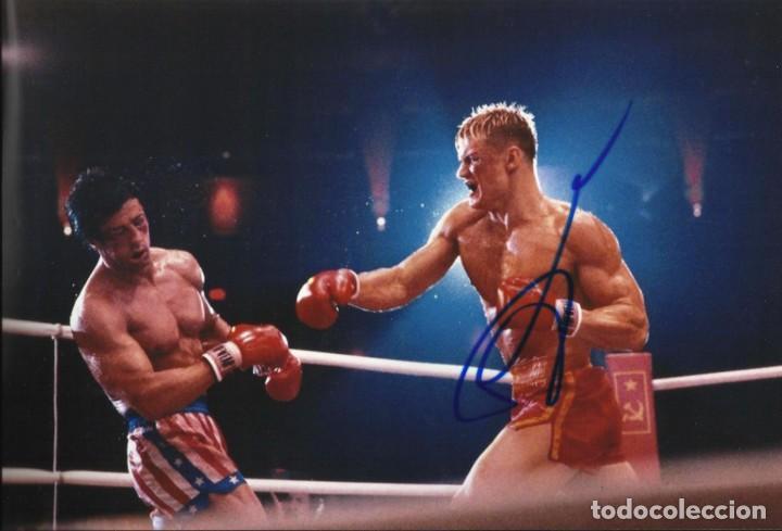 RUDOLPH LUNDGREN. IVAN DRAGO. ROCKY IV. 1985. AUTÓGRAFO, FIRMA ORIGINAL. AUTOGRAPH. 20X30 CM. (Cine - Autógrafos)