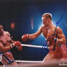 Cine: RUDOLPH LUNDGREN. IVAN DRAGO. ROCKY IV. 1985. AUTÓGRAFO, FIRMA ORIGINAL. AUTOGRAPH. 20X30 CM. FOTO.. Lote 205380233