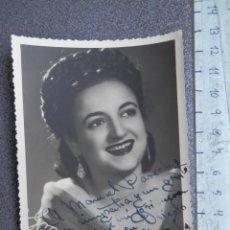 Cine: DEDICATORIA MANUSCRITA FOTOGRAFÍA ACTRIZ AÑO 1946 PILAR ?? A INVESTIGAR. Lote 212994265