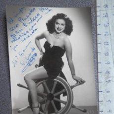 Cine: DEDICATORIA MANUSCRITA FOTOGRAFÍA AÑO 1950 Mª CARMEN ALVARADO - VEDETTE. Lote 213006236