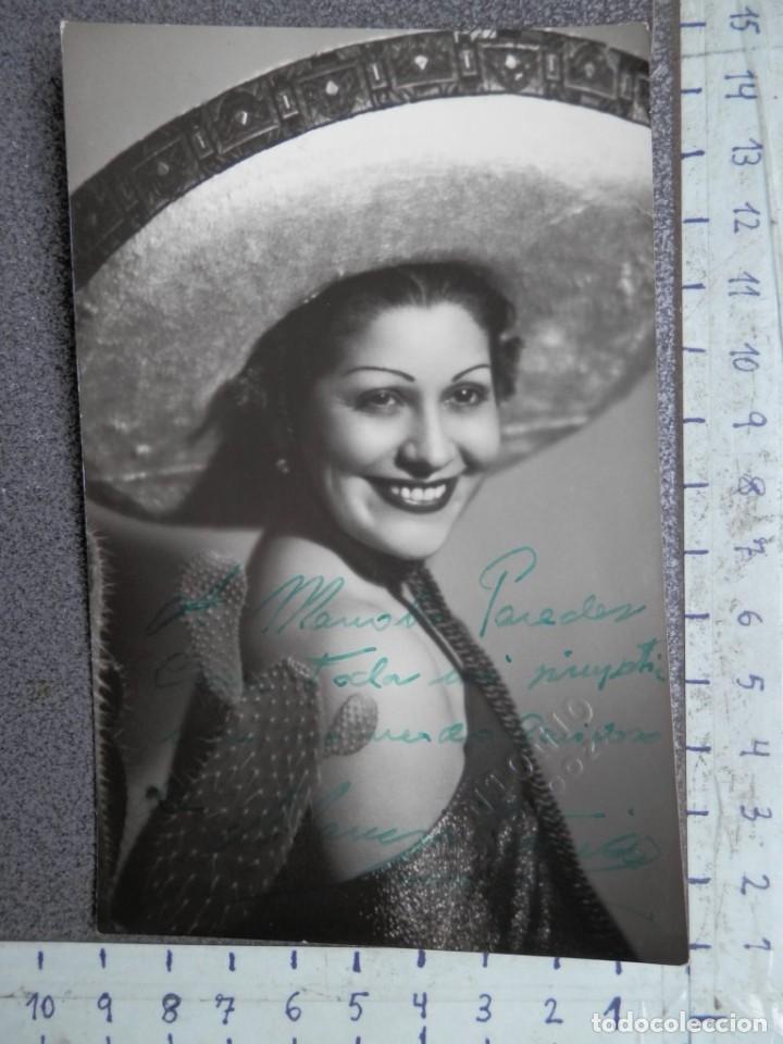 DEDICATORIA MANUSCRITA FOTOGRAFÍA ACTRIZ AÑOS 40 RUTH MOY (Cine - Autógrafos)