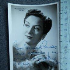 Cinema: DEDICATORIA MANUSCRITA MARTA SANTA-OLALLA FOTOGRAFÍA ACTRIZ Y CANTANTE AÑO 1954. Lote 213045132