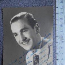 Cinema: DEDICATORIA MANUSCRITA FOTOGRAFÍA ACTOR AÑO 1947 RAFAEL LLAMAS - VITORIA. Lote 213046991