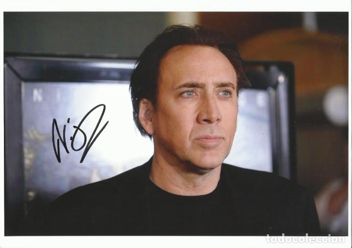 Cine: Nicolas Cage. Autografo, autograph, firma original. 21x29 cm. The Cotton Club. City of Angels. Foto. - Foto 1 - 216020256