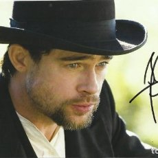 Cine: BRAD PITT. AUTOGRAFO, AUTOGRAPH, FIRMA ORIGINAL. 16X29 CM. LEGENDS OF THE FALL. SEVEN OCEAN'S TWELVE. Lote 216022551