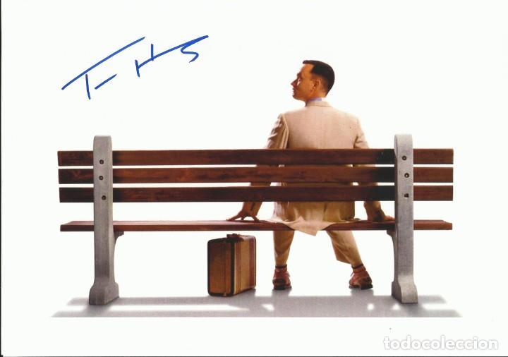 TOM HANKS. AUTOGRAFO, AUTOGRAPH, FIRMA ORIGINAL. 21X30 CM. FORREST GUMP. PHILADELPHIA. TOY STORY. (Cine - Autógrafos)