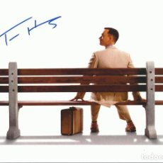 Cine: TOM HANKS. AUTOGRAFO, AUTOGRAPH, FIRMA ORIGINAL. 21X30 CM. FORREST GUMP. PHILADELPHIA. TOY STORY.. Lote 217520678