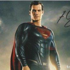 Cine: HENRY CAVILL SUPERMAN. AUTÓGRAFO, FIRMA ORIGINAL. AUTOGRAPH. JUSTICE LEAGUE. THE TUDORS.. Lote 219495078