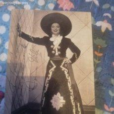Cine: POSTAL FIRMADA, AUTÓGRAFO INMA VILA ACTRIZ Y CANTANTE MEXICANA PARQUE FLORIDA MADRID 1952. Lote 219636535