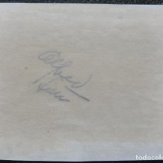 Cine: ALFRED LUNT SIGNED 3.5X4.5 CUT ALBUM PAGE '60S CAN BE FRAMED WITH A REPRO STILL!. Lote 221704193